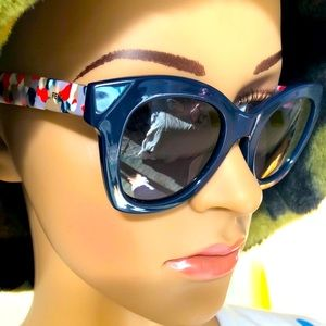 Fendi  blue/multicolored Cat Eye-sunglasses NWB